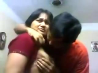 indian bhabi devar home giving kiss