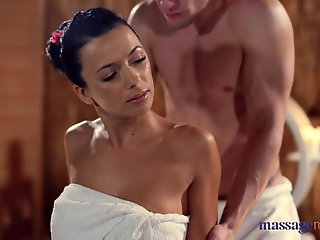 massage rooms sexy brunettes tight slick